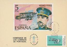 Portugal & Maximum Card, Tribute To The Portuguese Post Ofice, World Stamp Exhibition EXPAMER, La Coruna 1987  (3) - Tentoonstellingen