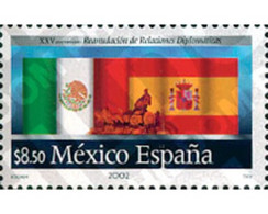 Ref. 123643 * MNH * - MEXICO. 2002. 25TH ANNIVERSARY OF THE RESUMPTION OF DIPLOMATIC RELATIONS WITH SPAIN . 25 ANIVERSA - Ohne Zuordnung