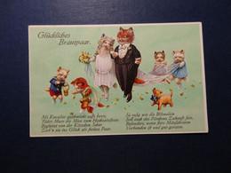 Glückliches Brautpaar - Katzen - Hochzeit (3978) - Gatos