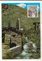 Valls D'Andorra Andorre N°43 Canillo VOIR Timbre Hermine En 1977 - Andorra
