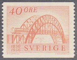 SWEDEN  SCOTT NO  496   MNH   YEAR  1956 - Nuevos