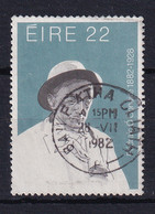 Ireland: 1982   Anniversaries Of Cultural Figures   SG516   22p   Used - Usados