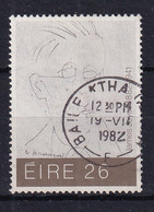 Ireland: 1982   Anniversaries Of Cultural Figures   SG517   26p   Used - Usados