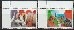 Vatikan 1995 Mi-Nr.1161 - 1162 ** Postfrisch Die Weltreisen Von Papst Johannes Paul II. ( 2460)günstige Versandkosten - Nuevos