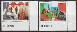 Vatikan 1995 Mi-Nr.1161 - 1162 ** Postfrisch Die Weltreisen Von Papst Johannes Paul II. ( 2455)günstige Versandkosten - Nuevos