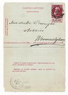 Carte Lettre Kaartbrief  Anvers Gare Centrale Notaire Wommelgen Antwerpen Léopold II Ne Pas Livrer Le Dimanche - Letter-Cards