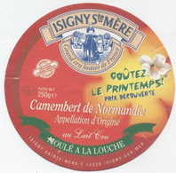 Etiquette Camembert, Isigny Sur Mer - Cheese