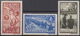 Romania 1941 - 1 An De La Reintegrarea Basarabiei, MiNr. 749-751 MH. - Unused Stamps