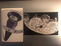 VAL SAINT LAMBERT VASE CLIO BOREK SIPEK 1989 + COUPE MOSCA 1908 MUSEE ARCHEOLOGIE ET ARTS DECORATIFS LIEGE - Autres