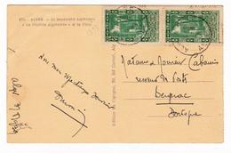 Algérie Alger Bergerac Dordogne Paire Cimetière Musulman Tlemcem Boulvard Laferrière Dépêche Algérienne Poste - Briefe U. Dokumente