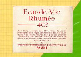 4 Etiquettes De RHUM : RHUM Eau De Vie Rhumée 40° Ecriture Rouge+Virginia +Pavois + St Remi - Rhum
