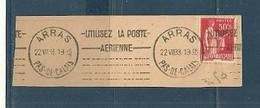 PAS De CALAIS - Dépt N° 62 = ARRAS 1933 =  Flamme KRAG ' UTILISEZ LA POSTE AERIENNE + Lignes Limées ' - Annullamenti Meccanici (pubblicitari)
