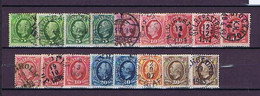 Schweden, Sweden #4: 1891, Oscar II., 17 Used Stamps With Shades, Some Nice Cancels - Usados