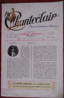CHANTECLAIR N° 255 - BALZAC PAR EMILE FAGUET / LE CHANT DES OISEAUX PAR GERARD D'HOUVILLE / STANCES PAR VICTOR HUGO - 1901-1940