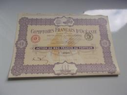 COMPTOIRS FRANCAIS D'OCEANIE (papeete) - Unclassified
