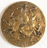 Médaille De Voeux BR FLOR O. Tison MICHEL 424 Grammes 100 Mm...! - Firma's