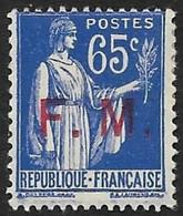 Franchise Militaire N° 8 - Varieties: 1931-40 Mint/hinged