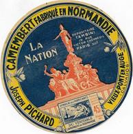 ETIQUETTE DE FROMAGE    NEUVE  CAMEMBERT NORMANDIE LA NATION JOSEPH PICHARD VIEUX PONT EN AUGE CALVADOS - Cheese