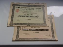 Immobilière FRANCE INDOCHINE (100 Francs Et Bénéficiaire) - Unclassified