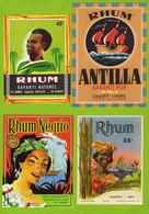 Lot De 4  Etiquettes De Rhum Differentes - Rhum