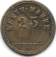 *notgeld WERTH MARKE 25 ........ - Noodgeld