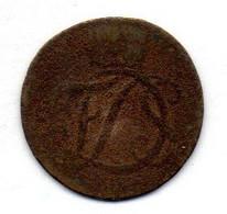 GERMAN STATES - SAXE-EISENACH, 1 Pfennig, Copper, Year 1751, KM #3 - Petites Monnaies & Autres Subdivisions