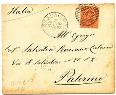 1886 COLONIE ITALIANE MASSAUA MAR ROSSO  CERCHIO TIPO A + NUMERALE A SBARRE TIPO B RARISSIMO - Marcofilie