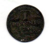 GERMAN STATES - SAXE-GOTHA-ALTENBURG, 1 Pfennig, Copper, Year 1760, KM #C6.1 - Petites Monnaies & Autres Subdivisions