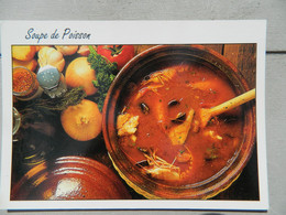 Carte Postale De Recette - La Soupe De Poisson - Recipes (cooking)