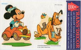 Décalcomanie Trans'décor N° 350205 Walt Disney Production Mickey Et Pluto  Dimension Images  18cmX13cm - Altri