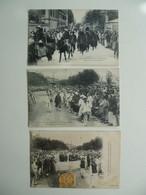 CPA / Lot De 3 Cartes Postales Anciennes / CHINE / Enterrement Chinois - China