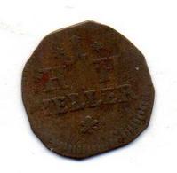 GERMAN STATES - SAXE-HILDBURGHAUSEN, 1 Heller, Copper, Year 1778, KM #104 - Petites Monnaies & Autres Subdivisions