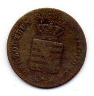 GERMAN STATES - SAXE-MEININGEN, 1 Pfennig, Copper, Year 1862, KM #170 - Petites Monnaies & Autres Subdivisions