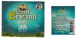 E 175 - BIERE BRETONNE - SANT ERWANN - DOUBLE IPA - 33 Cl - CONCARNEAU - Beer