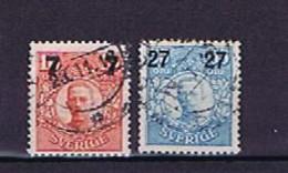 Schweden, Sweden 1918: Michel-Nr. 109 + 112 Used / Gestempelt - Usados