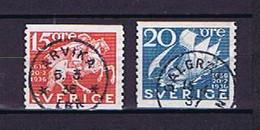Schweden, Sweden 1936: Nice Cancels, Michel-Nr. 229 + 230A Used / Gestempelt - Usados