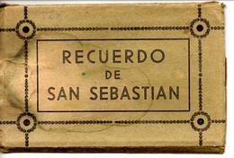 Leporello Spanien: Recuerdo De San Sebastian, Leporello Mit 10 Bildern, Alle 9 X 14 Cm, Um 1920-30 - Unclassified