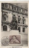 Portugal & Maximum Card, Almeida Garret Statue, Porto 1957 (282) - Schriftsteller