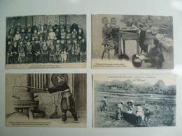 CPA / Lot De 4 Cartes Postales Anciennes / CHINE / Kouiyang Swatow Chungking Kouangsi - Missions étrangères - China