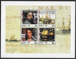 1985 Terra Australis Set Minisheet MUH Navigators Dampier Tasman Ships - Mint Stamps