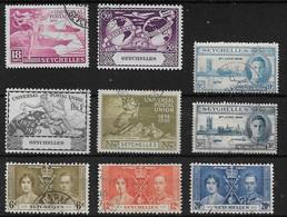 SEYCHELLES 1937 - 1949 COMMEMORATIVE SETS FINE USED Cat £7.55 - Seychellen (...-1976)