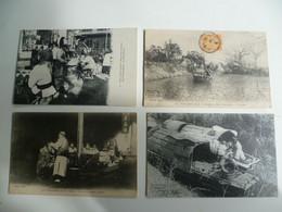 CPA / Lot De 4 Cartes Postales Anciennes / CHINE / Petits Métiers Chinois /c - China