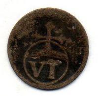 GERMAN STATES - SAXE-WEIMAR-EISENACH, 6 Pfennig, Billon, Year 1763-4, KM #C39 - Petites Monnaies & Autres Subdivisions