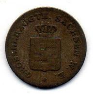 GERMAN STATES - SAXE-WEIMAR-EISENACH, 1 Groschen, Silver, Year 1840, KM #86 - Petites Monnaies & Autres Subdivisions