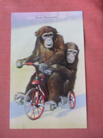 Playful Chimpanzees On Bicycle      Ref  4994 - Sin Clasificación