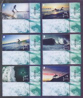 JERSEY 2021 - SURFING, Sports, Complete Set Of 6v. MNH With Corner And Serial Number 000004 - Jersey