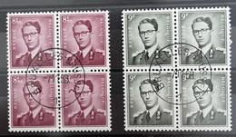 N °1072/ N °1073 OBLITÉRÉ BLOC DE 4 PLEINE GOMME - 1953-1972 Brillen