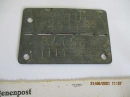 Plaque D'identité Militaire Prisonnier Stalag VIII A Camp De Lager Bezeichnung Numéro 25178 + Lettre Prisonnier Même N° - 1939-45