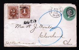3 C. Auf Brief Aus Minneapolis Nach Cleveland - 1 + 2 C. Portomarke Mit Sternstempel - Covers & Documents