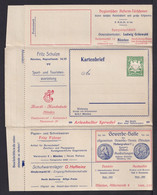 """5 Pf. Privat Anzeigen Ganzsache """"....Musikhaus.. Elektr. Klaviere, Selbstsp. Zithern.."""" - Ungebraucht - Musica"""